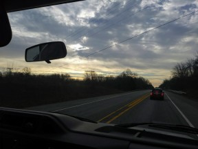 #that Maryland sky: Christmas Eve drive to church